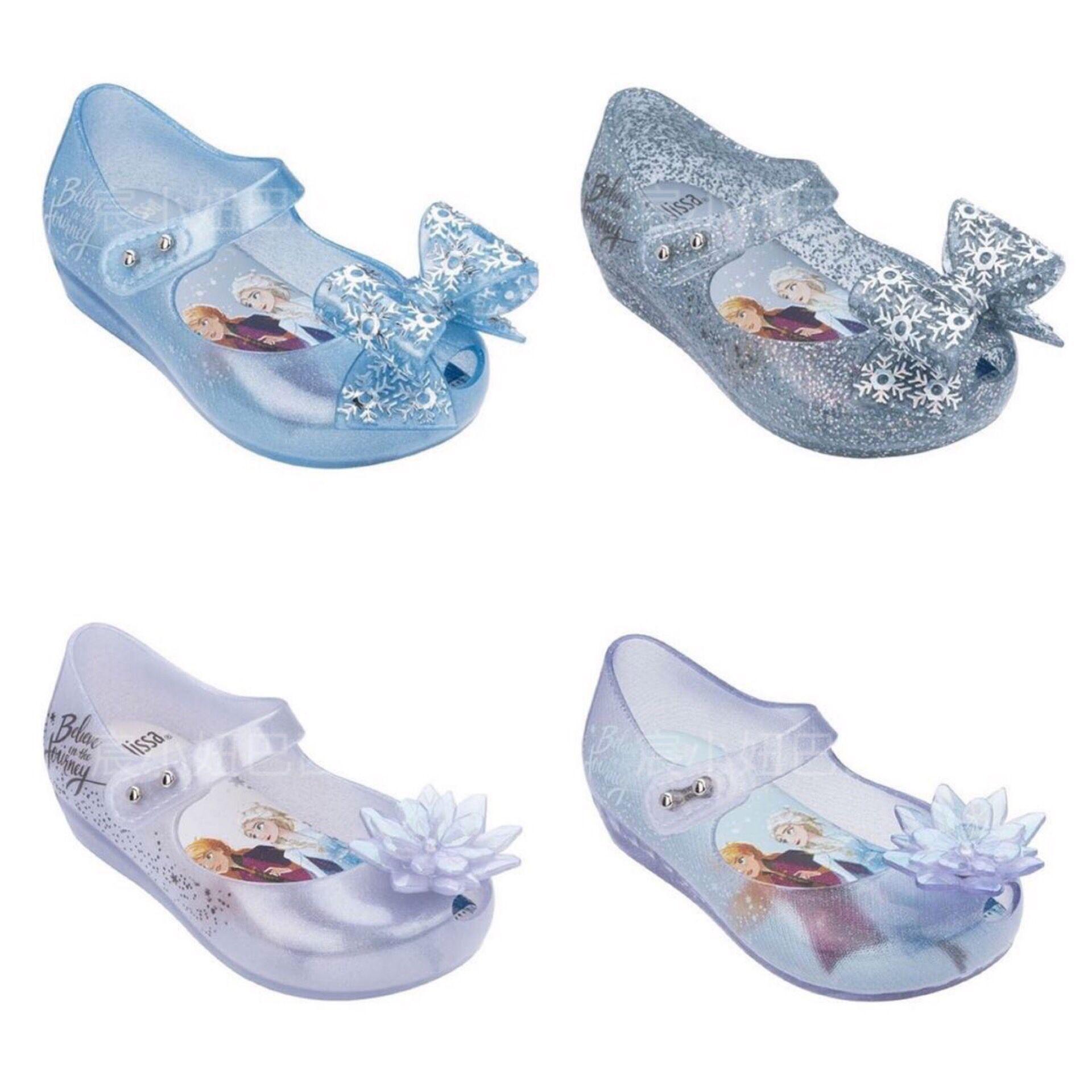 Mini Melissa Ultragirl 2020 Original Girl Jelly Sandals Butterfly Knot Kids Sandals Children Beach Shoes Non-slip Meliss SH19111