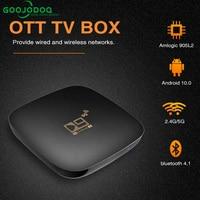 GOOJODOQ Bluetooth Smart TV Box Sets Android 10 4K HDR 2,4G & 5,8G Wifi TV Receiver Media player 16G 64G Youtube IP TV Box Top Box