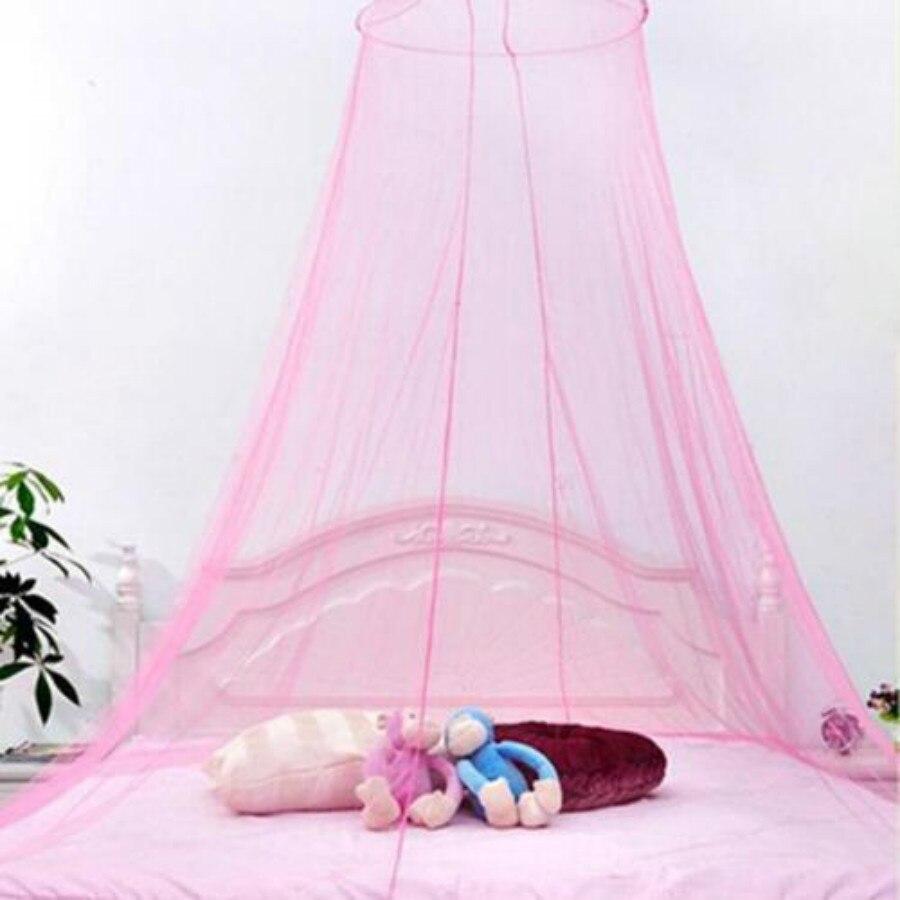 Милая Детская кровать принцессы с навесом, сеточная купольная кровать, москитная сетка для детской комнаты
