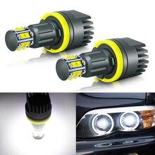 2pcs H8 Angel Eyes Led For BMW 12pcs High Quality Chips Canbus Error Free Light Headlight Lamp For BMW E82 E88 E90 E91 E92 E93