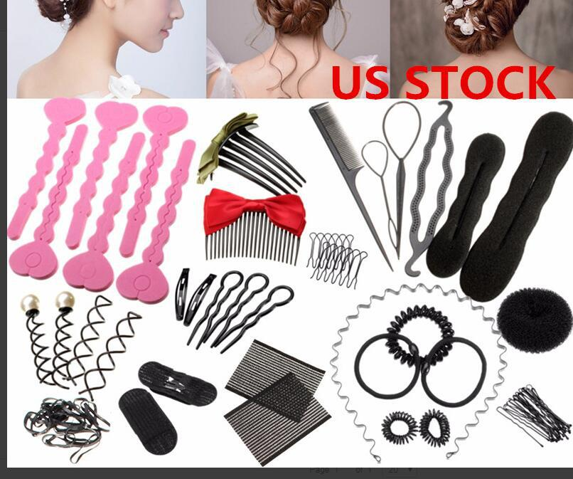 Magic Hair Styling Accessories Hairpin DIY Hair Braiding Braider Tool Twist Bun Barrette Elastic Hair Clips Women Headband G0116