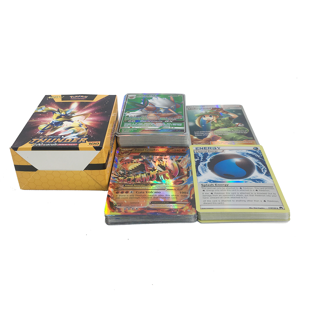TAKARA TOMY Pokemon 100PCS GX MEGA TRAINER ENERGY Flash Card 3D Version SWORD SHIELD SUN MOON Card Collectible Gift Kids Toy