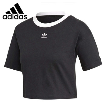 Original New Arrival Adidas Originals CROP TOP Women's T-shirts short sleeve Sportswear