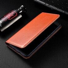 Litchi Patter Genuine Leather Magnetic Flip Cover For OPPO A52 A72 A92 A92S A5 A15 A55 A15S A53 A8 A91 A93 A9 Case Luxury Wallet