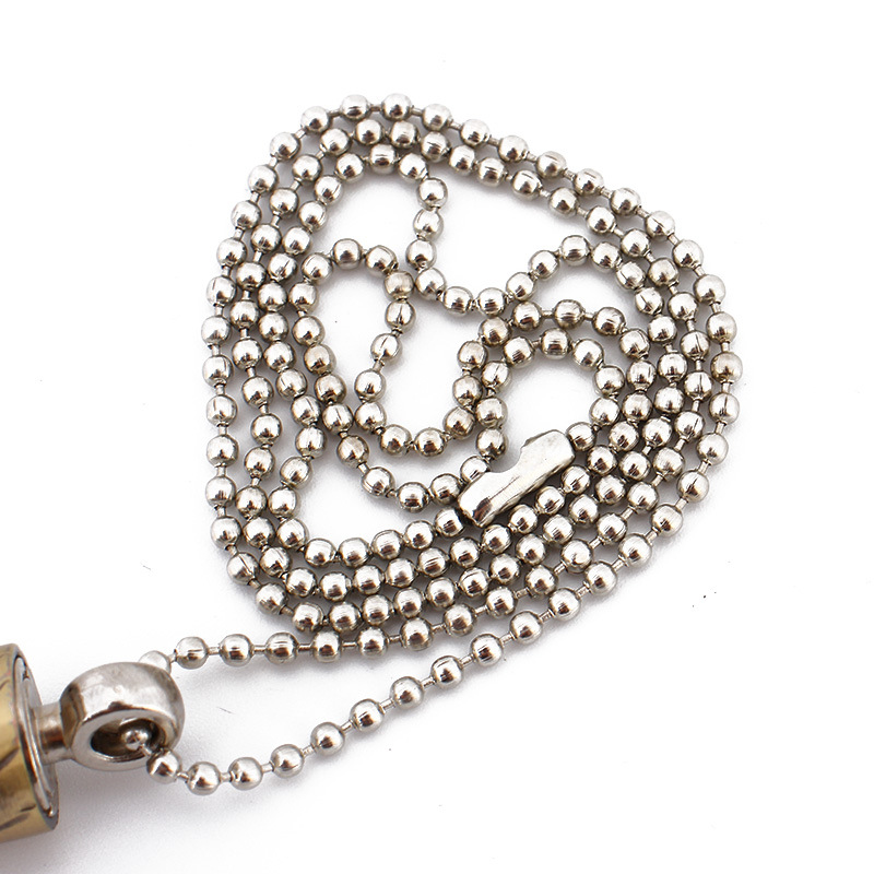 Bullet Shaped Permanent Match Lighter and Metal Fire Starter in Chain Pendant Design