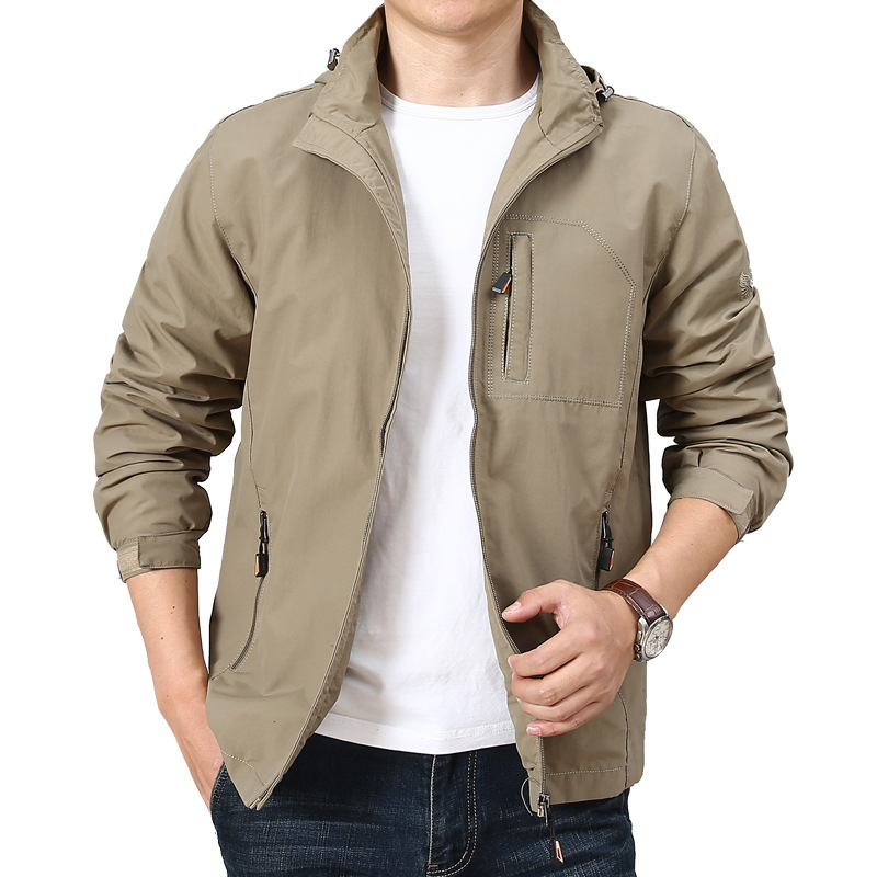 Men's Waterproof Military Jacket Autumn Men Casual Windbreaker Jackets Mens Breathable Hooded Outdoor Coats Size M-4XL ,GA546