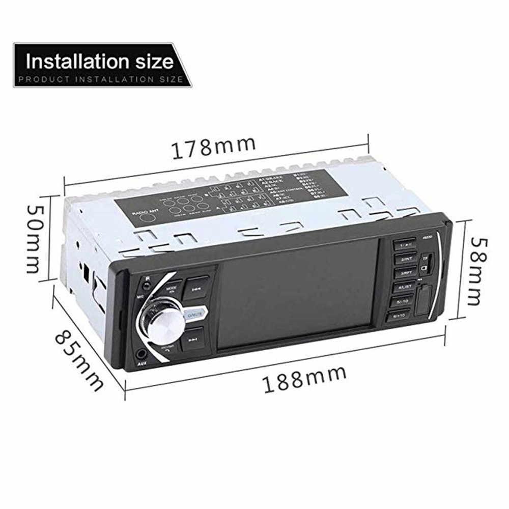 カーラジオ 1 Din 4022D FM ラジオ車の自動車オーディオステレオ Bluetooth Autoradio サポートリアビューカメラステアリングホイールコントロールラジオ