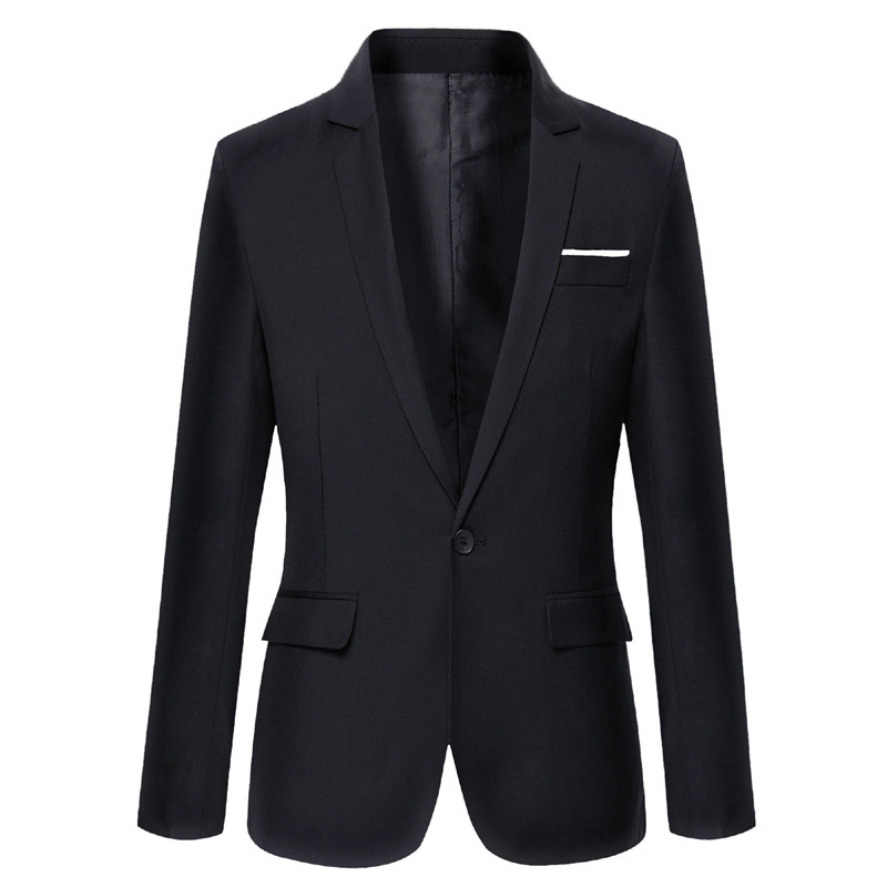 Hot Selling MEN'S Suit AliExpress Korean-style Slim Fit Solid Color Run Small Suit 8-Color Long-term Stock