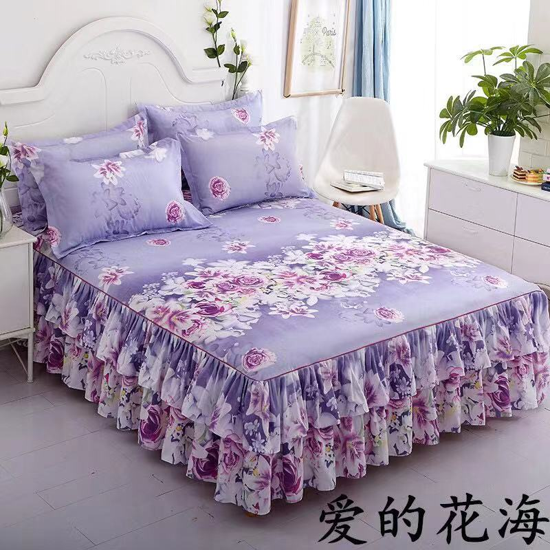 1 Piece Lace Bed Skirt Bedding Princess Bedding Bed Cover Bed Girl Bed Cover Full Queen King Size