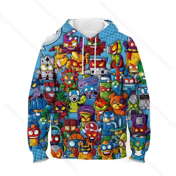 Kids 3D Print Super Zings Hoodie Autumn Winter Children Superzings 6 Series Sweatshirt Sudadera Boy Girl Cartoon Anime Pullover 13
