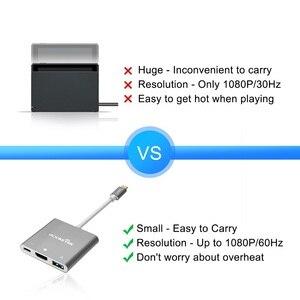 Image 2 - Rocketek xách tay Dock USB C Type C đến HDMI Hub Chuyển đổi 4K HD Chuyển cho Nintend Chuyển NS / Samsung S8 / Mac Pro
