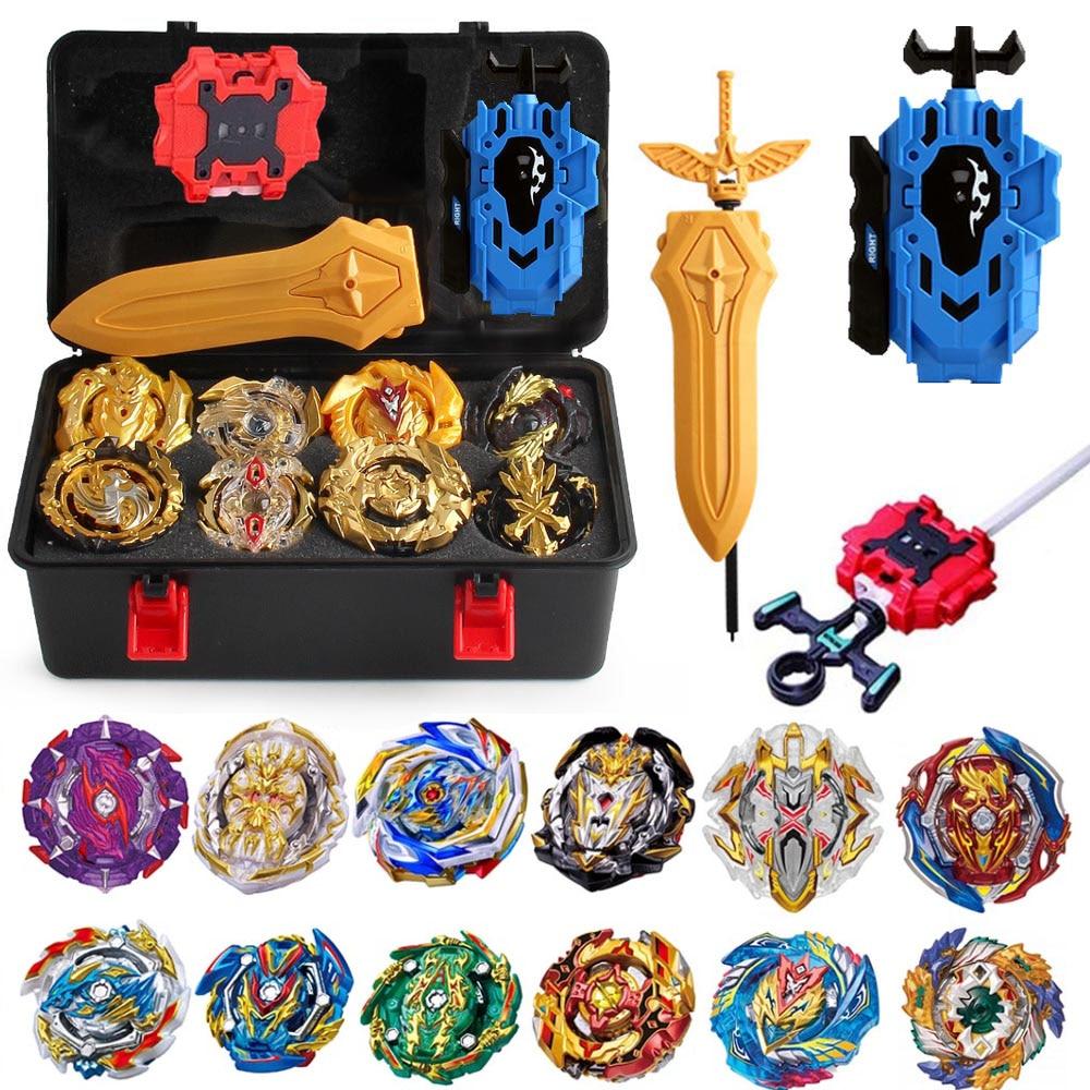 New Burst Set Launchers Beyblade Toys Arena Bayblades Toupie Metal Burst Avec God Spinning Top Bey Blade Blades Toy 8645312(China)
