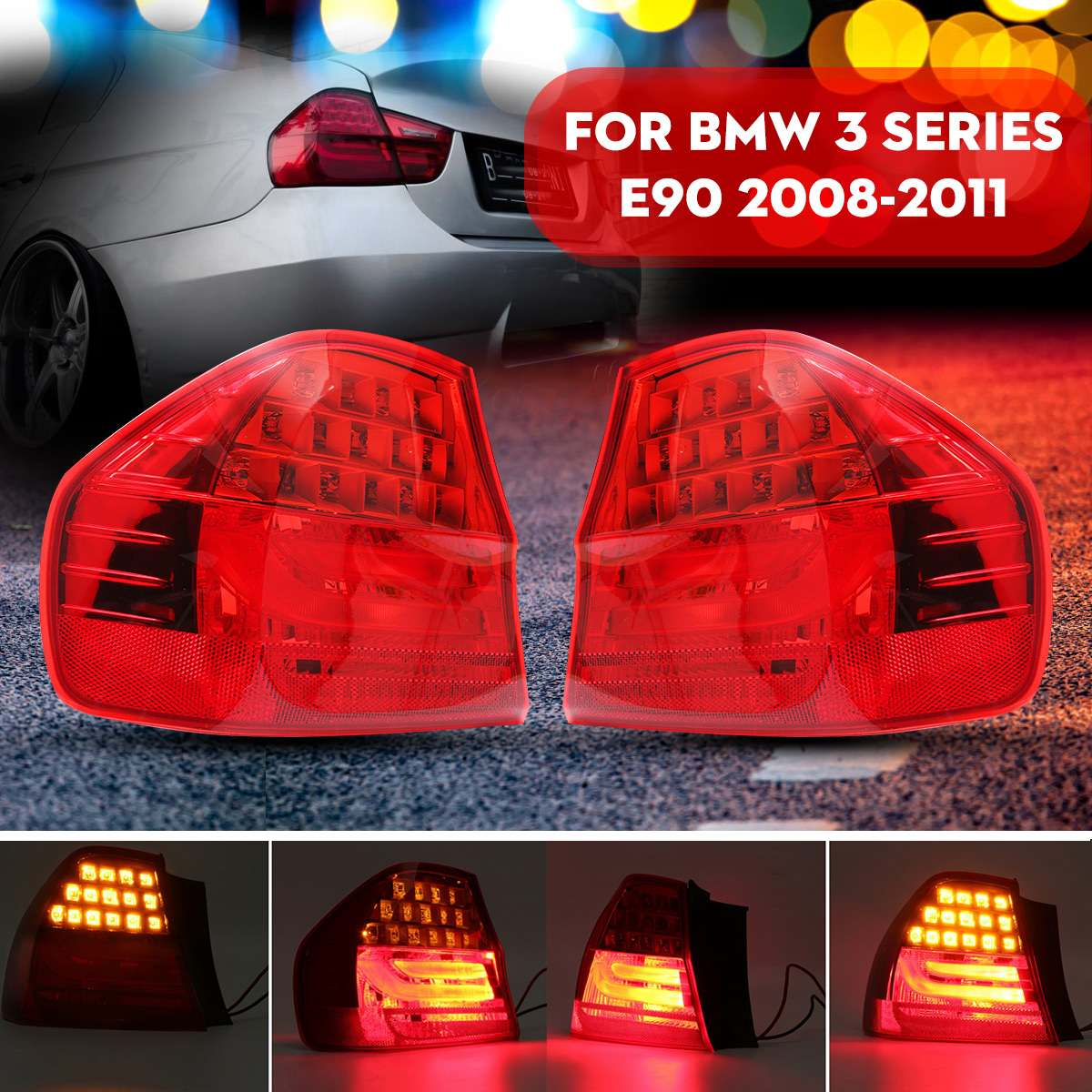 Car Tail Light Rear Lamp Brake Light Signal 63217289425 63217289426 For BMW E90 3 SERIES 2008 2009 2010 2011 image