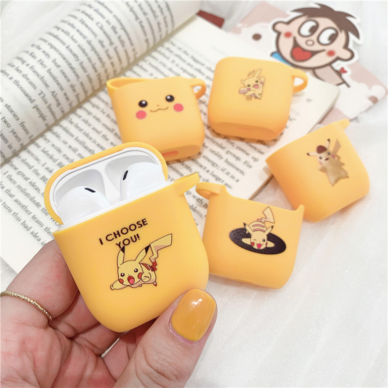 Pokemons <font><b>Pikachue</b></font> Wireless Bluetooth Earphone <font><b>Case</b></font> For Apple <font><b>AirPods</b></font> Silicone Headphones <font><b>Cases</b></font> For <font><b>Airpods</b></font> 2 Protective Cover image
