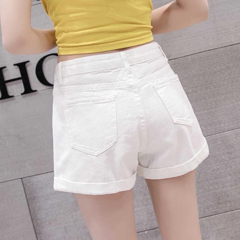 Garemay Vintage frauen Denim Shorts Jeans Weibliche Klassische Hohe Taille Blau Breite Bein Caual Sommer Damen Shorts Jeans Für frauen