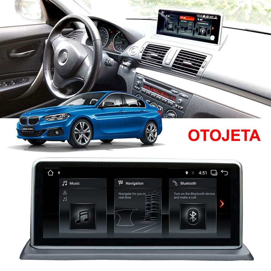 64GB rom Android 9.0 lecteur multimédia de voiture adapté pour 2007-2012 BMW 1 série gps E81 E82 E87 E88 10.25