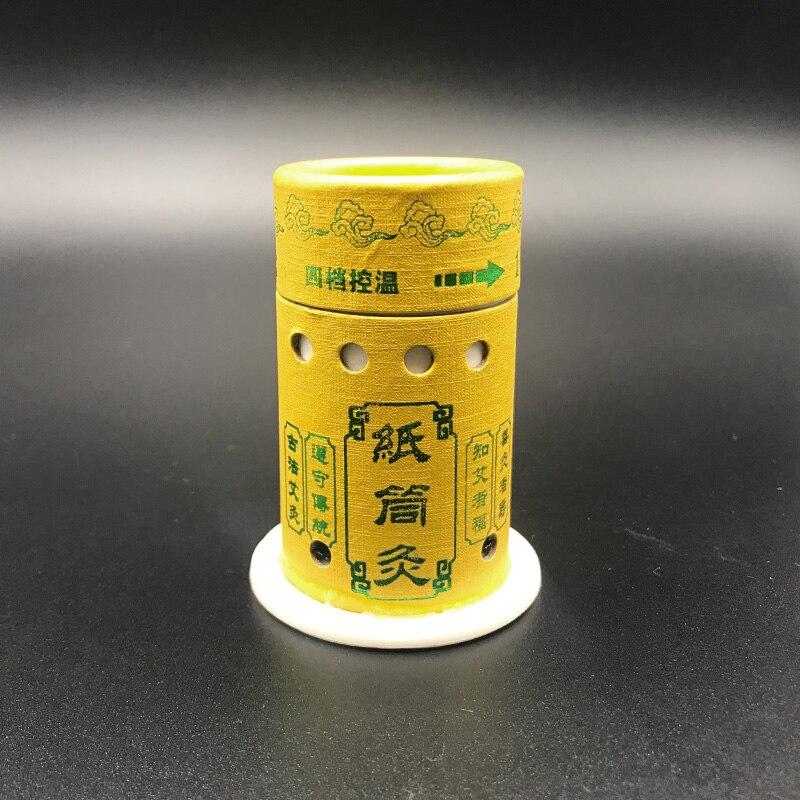 SHARE HO caja de moxibusti n reutilizable pegatinas de papel palitos Moxa quemador calefacci n terapia