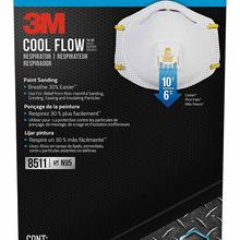 5-Particulate-Respirator Breathe COOL Genuine Origin 8511 with Valve 10-Pack Cup-Shaped
