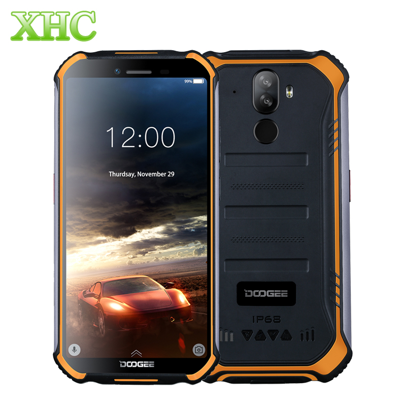 DOOGEE S40 Lite WCDMA 3G 5.5inch Mobile Phone RAM 2GB ROM 16GB MT6580 Quad Core Android 9.0 Fast Charge Dual SIM NFC Smartphone