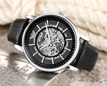 Brand Armani- High Quality automatic mechanical Famous Top Watches Mens Womens Watch Steel Band Wrist Men Sports Women 002