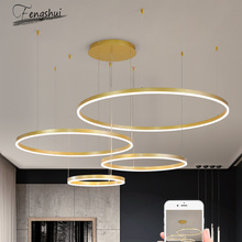 Modern Luxury Bedroom Chandelier Lighting French Led Chandelier Round Acrylic Hanging Lamp Living Room Kitchen Hanging Lights