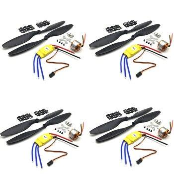 4 Sets XXD A2212 2212 A2208 Brushless Motor 930KV 1000KV 1400KV 2200KV 2600KV 1100KV 30A ESC 1045 Propeller For RC FPV Drone