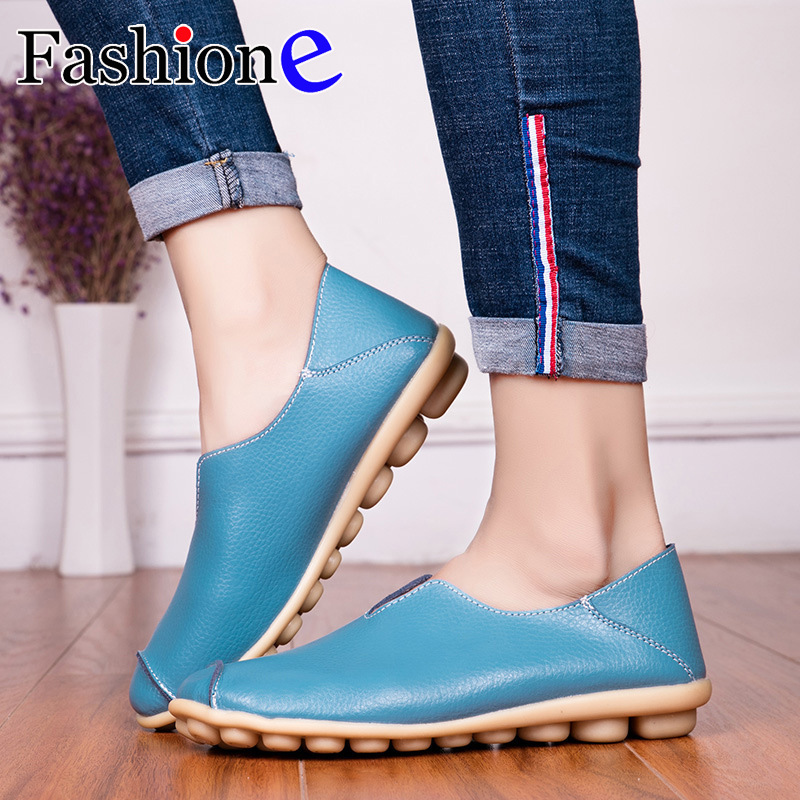 Women's Shoes Bottomed-Bean-Shoes Beef-Tendon Heeled Large-Size Casual Low-Side
