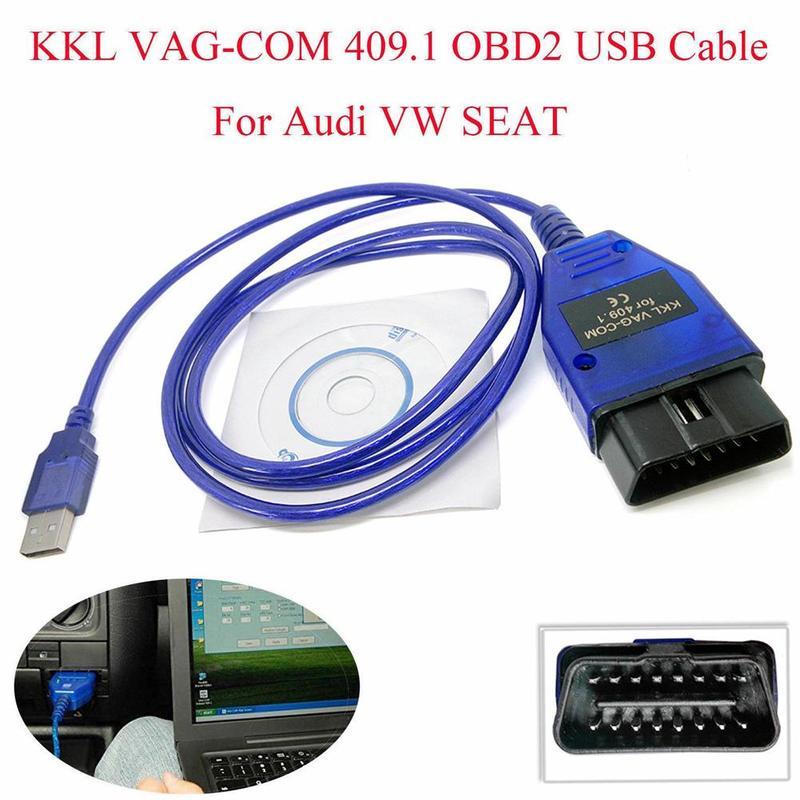Auto OBD2 USB VAG-COM KKL 409,1 Interface Kabel Automobil Auto Diagnose Scanner Scan-Tool Interface Kabel Für VW Audi Sitz