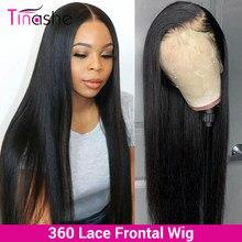 Tinshe Hair-pelucas de cabello humano completo con encaje, 150 de densidad, sin pegamento, peluca completa de encaje, pelucas de cabello humano recto brasileño prearrancado