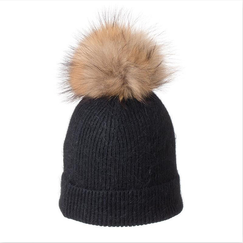 HANGYUNXUANHAO Winter Beanies Women Hat knitted Skullies Wool Female Fashion Casual Ski Caps Thick Warm Hats For Women in Men 39 s Skullies amp Beanies from Apparel Accessories