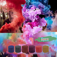 6pcs Colorful Smoke Pills Combustion Smog Cake Effect Smoke Bomb Pills Portable Photography Supplies Prop Party Props Dropship