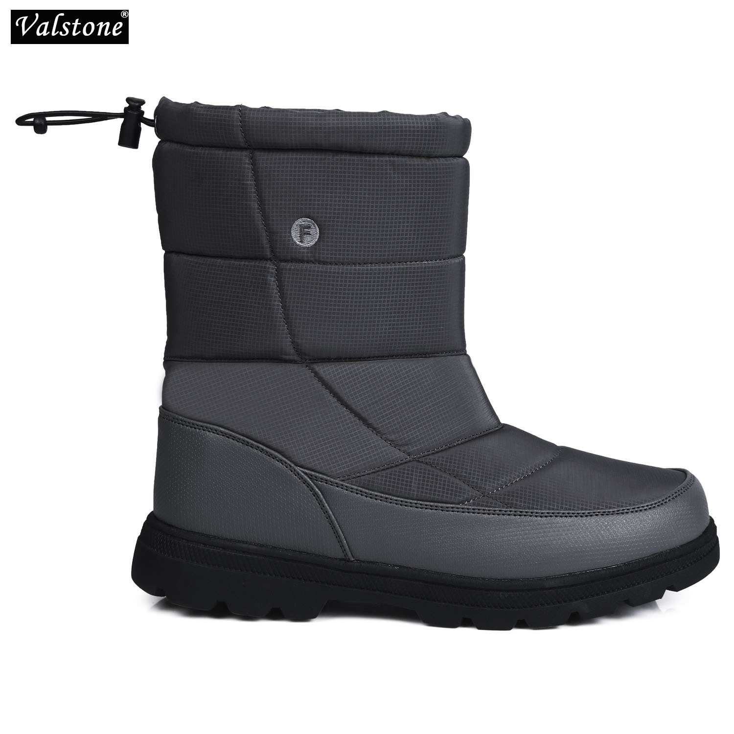 Waterproof Winter Unisex Snow Boots Couple Plush-lined Slip On Warm Ankle Boot