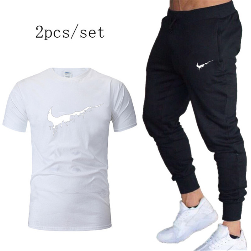 Sport Suits Men's Sportswear T Shirts+pants Running SetsTracksuit Gym Fitness Compression Sports Suit Clothes Running Jogging