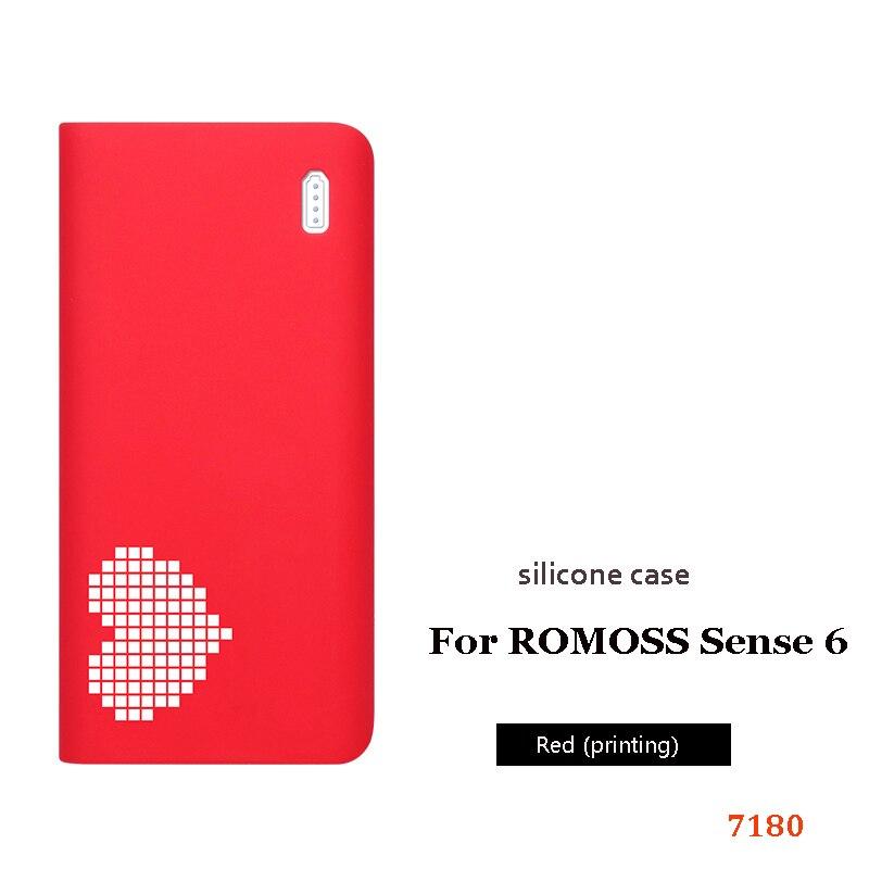 Силиконовый чехол для romoss sense 6, 20000 мА/ч, мобильный, мощный, мягкий, силиконовый, анти-столкновения, противоскользящий чехол, мобильный, мощный, кожаный чехол - Цвет: 8