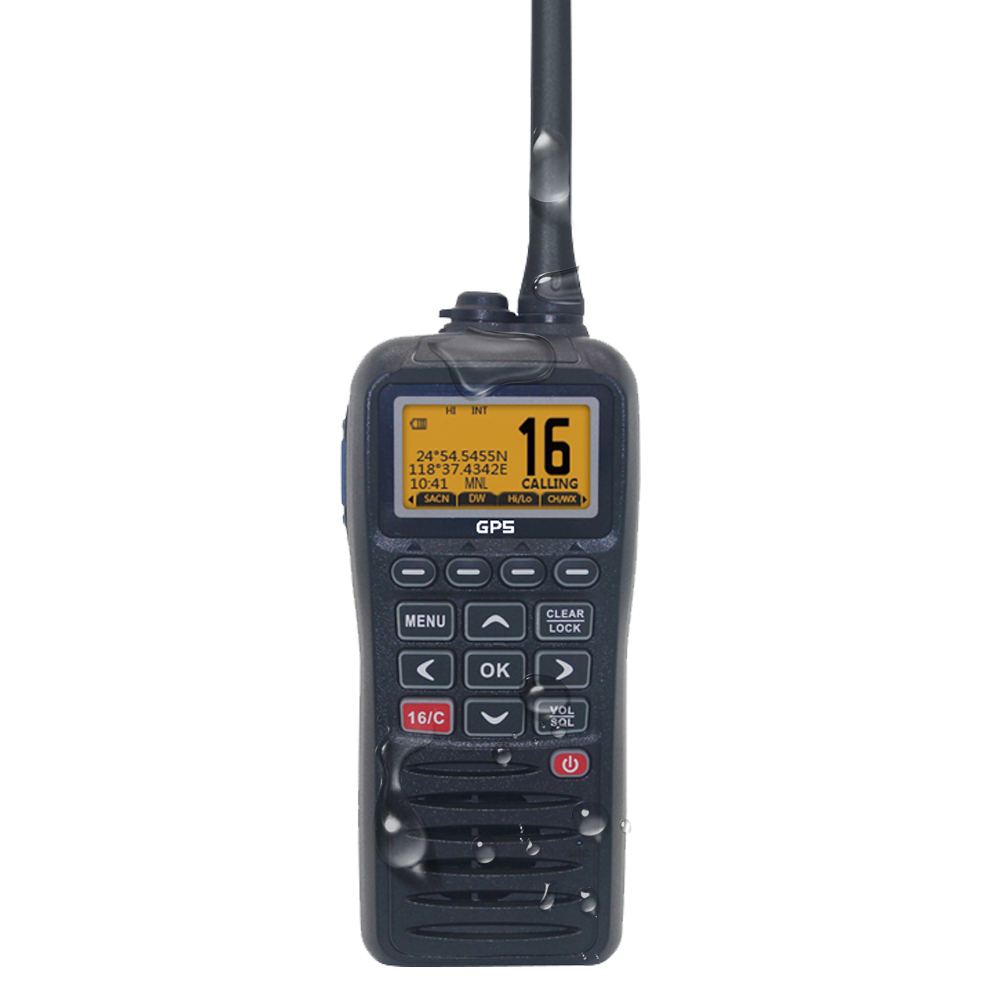 Recent RS-38M VHF Marine Radio Built-in GPS 156.025-163.275MHz Float Transceiver Tri-watch IP67 Waterproof Walkie Talkie