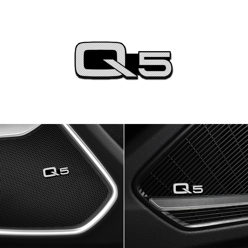 Комплект одежды из 4 предметов, новая пригодный для Audi Q5 SQ5 8R 2010-2019 сплав Стикеры автомобильный стерео Стикеры s автомобильные аксессуары