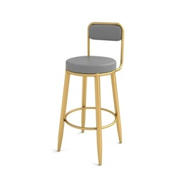 Stołek barowy Nordic wysoki stołek stołek barowy oparcie przednie krzesło biurowe wysokie krzesło proste lekkie luksusowe czerwone krzesło netto na