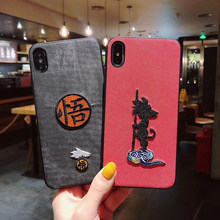 3D Bordir Dragon Ball Super Son Goku untuk Huawei P30 Pro P20 Lite Mate 30 20 Nova 5 kehormatan 9x Kain Soft Cover Coque(China)