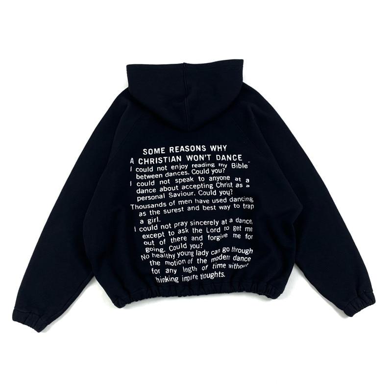kanye west Cardigan  Retro Letter Printing Zipper Hoodie Sweatshirts  5