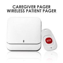 Indoor Wireless Caregiver Page Kit SOS Call Button Nurse Calling Alert Patient Help System for Elderly Children