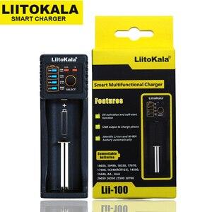 Image 4 - Liitokala Lii 100 1.2v 3.7v 3.2v 3.85v aa/aaa 18650 18350 26650 10440 14500 16340 25500 bateria de lítio nimh carregador inteligente