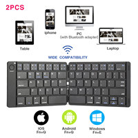 ET Pocket Size Foldable Bluetooth Keyboard Sync Up to 3 Devices Rechargeable Multi Device Folding Keyboard for iPad iPhone Mac