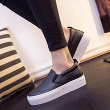 New low top and thick soled casual single shoe snake leather one foot women's shoes lazy women's shoes