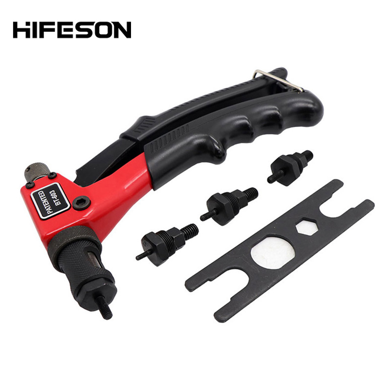 "8"" Single Hand Rivet Nut Guns Insert Threaded Mandrels Manual Riveters Nut Gun For Riveting Rivnut Tool M3 M4 M5 M6  Nuts"