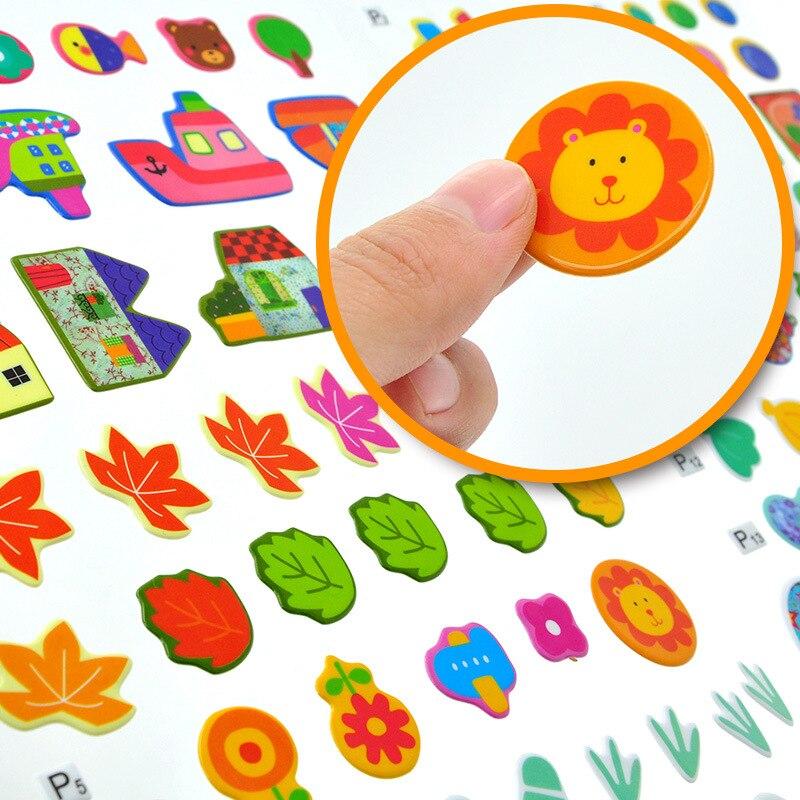 Magic Bubble Sticker Book IQ Iq Eq Eq Cq Creative 2-3-4-5-Year-Old Children Can Be Repeated 3D Sticker Book