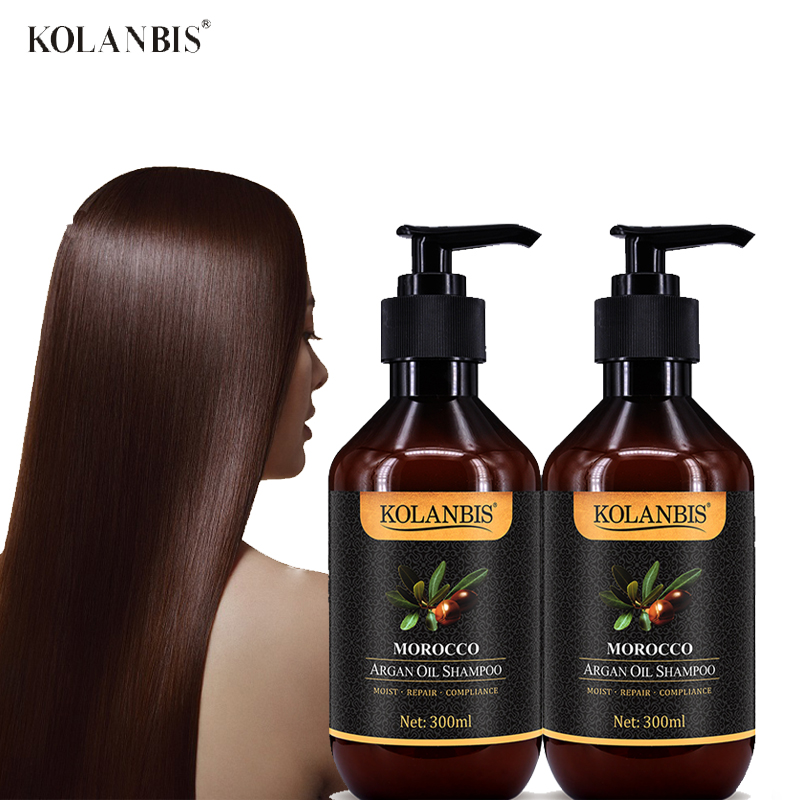 2pc Argan Shampoo Keratin Hair Straighten Instant Smooth Hydrate Protein Treatment Nutrition Morocco Oil Anti Frizz Moisturizer