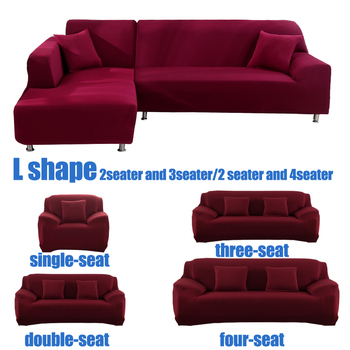 solid color corner sofa covers for living room elastic spandex slipcovers couch cover stretch sofa