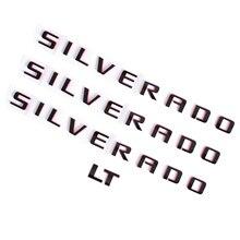 Silverado LT Auto Tür Fender Side Emblem Hinten Stamm Heckklappe Typenschild Abzeichen Für Chevrolet Silverado 1500 2500 3500