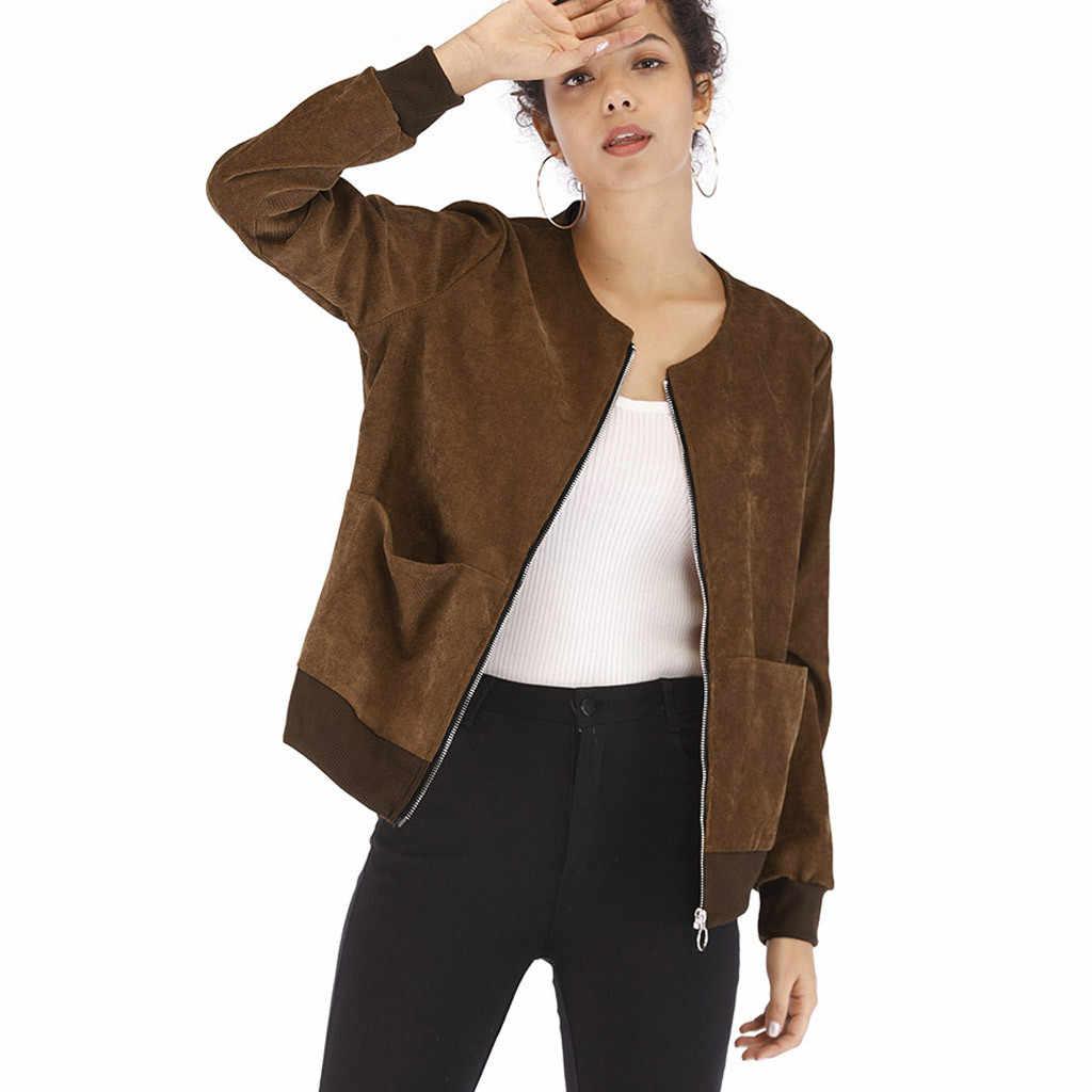 Bovenkleding & Jassen Jassen Vrouwen Lange Mouw Dunne Rits Corduroy Casual Jas Mode Uitloper Jassen En Jassen Vrouwelijke #820