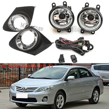Front Bumper Fog Light for Toyota Corolla 2011-13 with Wiring Harness Cover Grille frame стоимость